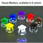 Power Plant House Marker Colours available from Board Game Extras
