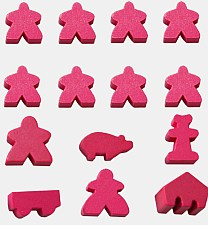 Carcassonne Pink Meeples available from Board Game Extras