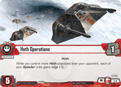 Star Wars Desolation of Hoth Operations Card
