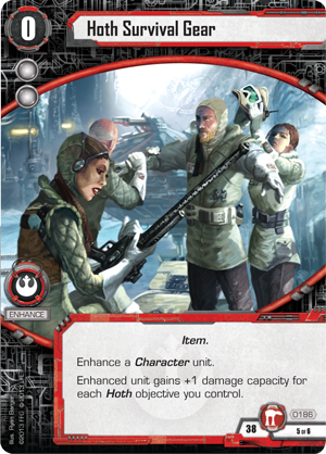 Star Wars Desolation of Hoth Survival Gear Card