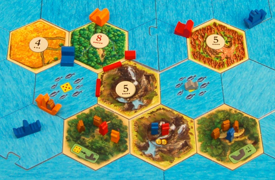 Catan Explorers & Pirates board layout