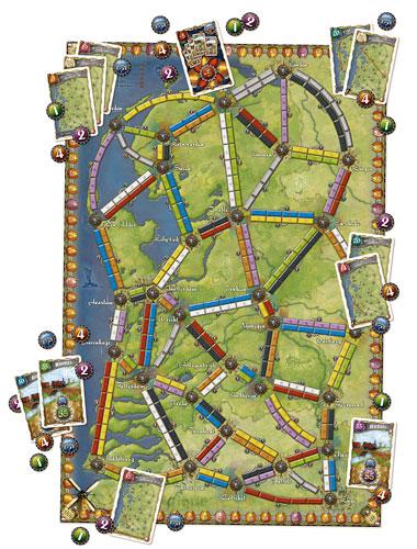 Ticket To Ride Nederland Map