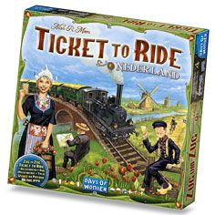 Ticket To Ride Nederland available from Board Game Extras