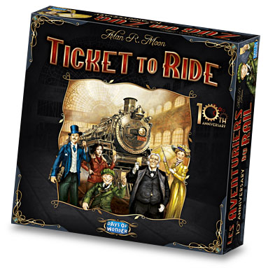 Ticket To Ride 10th Anniversary Edition available from Board Game Extras