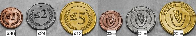 Tuscany Metal Lira Coins