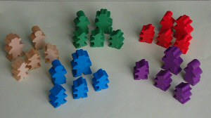 Agricola Wooden Meeples Family Set available from Board Game Extras