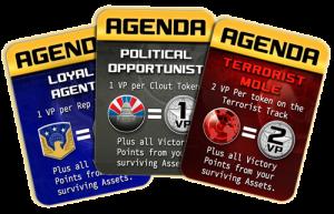 Homeland Board Game Cards