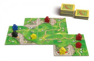 carcassonne board game tiles
